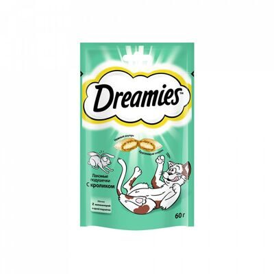 КОРМ DREAMIES C КРОЛИКОМ  60г