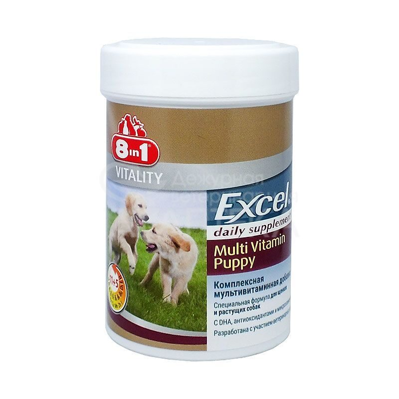8 in 1 Eur: Excel Multi Vitamin Puppy 100таб для щенков