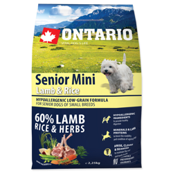 Ontario Adult Mini Lamb & Rice & Rice 2,25kg Корм для собак мелких пород